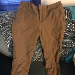 Merona 3/4 Length Brown Pants